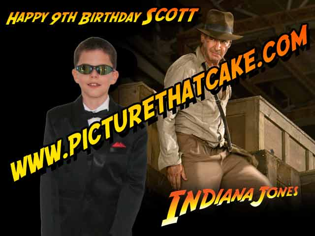 "Indiana Jones and your Child - A4 10"" x 7.5"" Cake Topper"