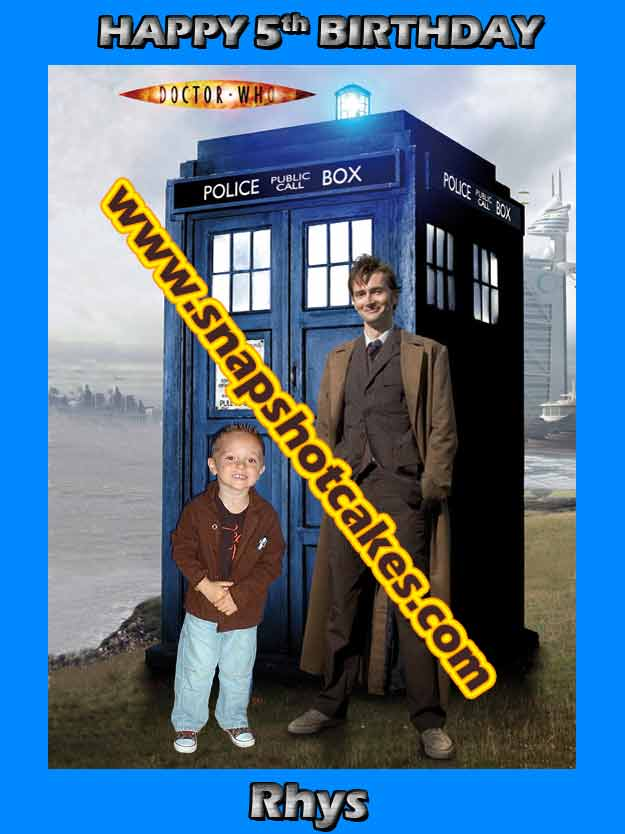 "Dr Who & Your child - A4 10"" x 7.5"" - David Tennant & you"