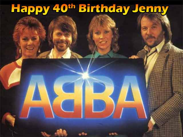 "Abba A4 10"" x 7.5"" Edible Cake Topper"