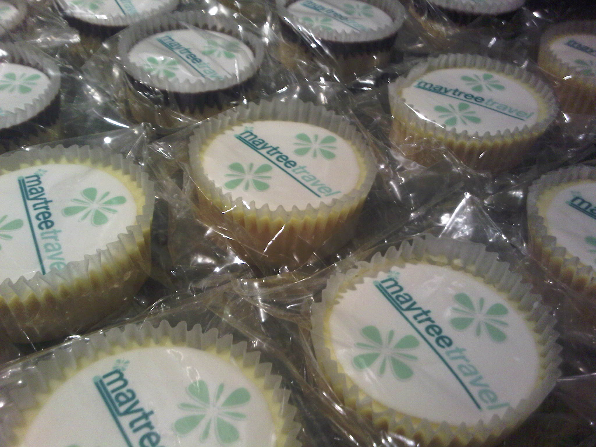 "Corporate Logo on 2.13"" Cupcake / Fairy Cake Cake toppers"