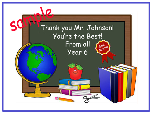 A4 School Leavers Teacher Thank you Image